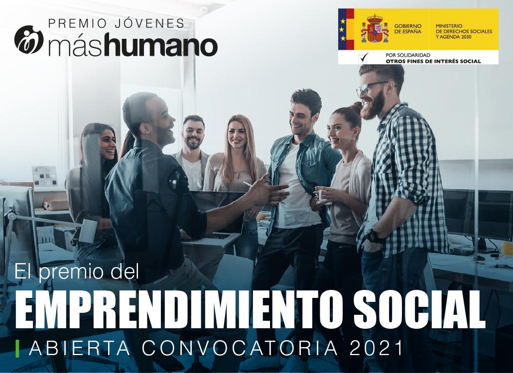 Nueva convocatoria 2021 Premio Jóvenes máshumano